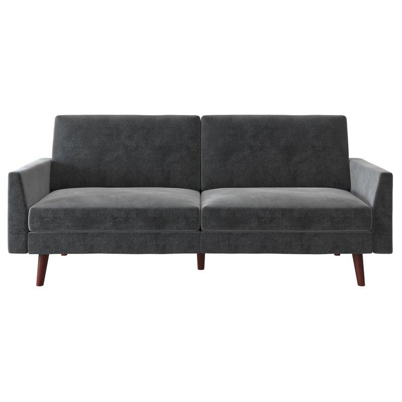 Velvet Convertable Sofa (Earle) (View 11 of 25)