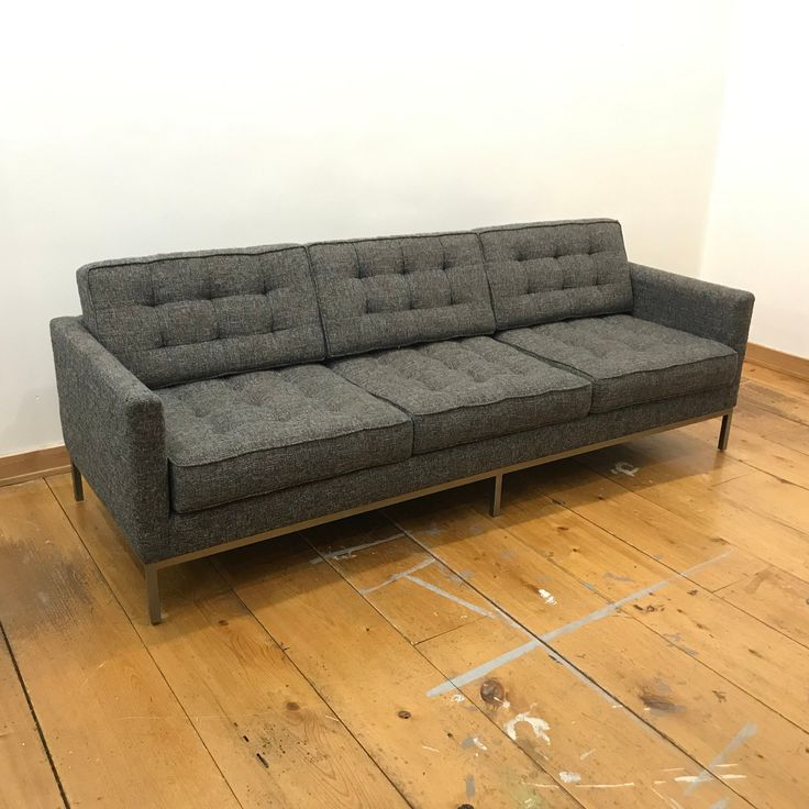 Vintage Florence Knoll Style Mid Century Modern Blue Gray For Fashionable Florence Mid Century Modern Left Sectional Sofas (View 21 of 25)