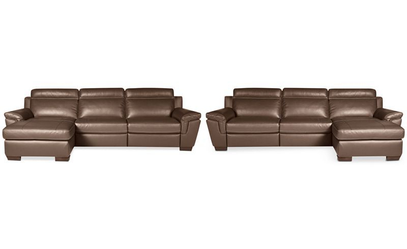 Well Known 3Pc Miles Leather Sectional Sofas With Chaise Throughout Closeout! Julius 3 Pc Leather Sectional Sofa With Chaise (View 12 of 25)
