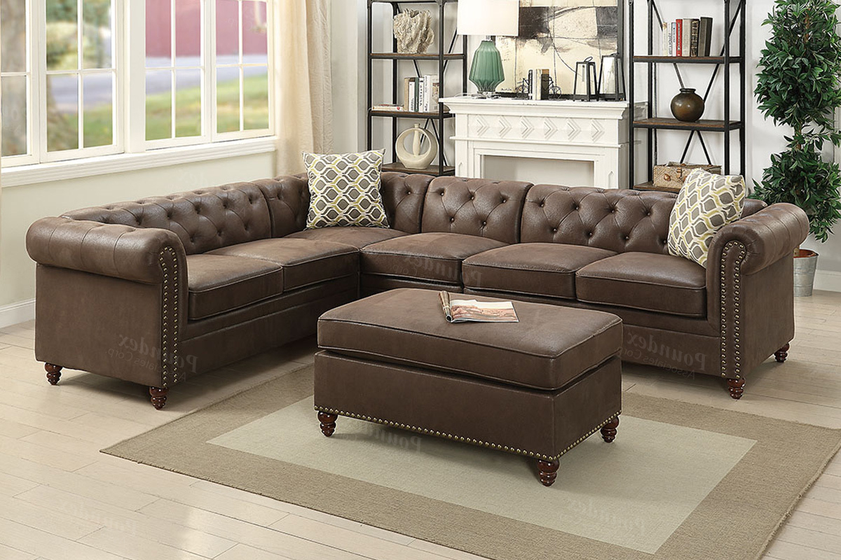 Well Known 4 Pcs Modular Sectional F6546 – Furniture Mattress Los Throughout Celine Sectional Futon Sofas With Storage Camel Faux Leather (View 9 of 25)