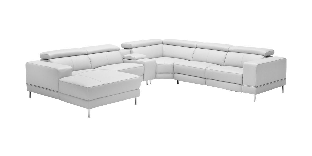 Well Known Calvin Concrete Gray Sofas For Bergamo Extended Sectional Motion Sofa Light Gray (View 6 of 15)