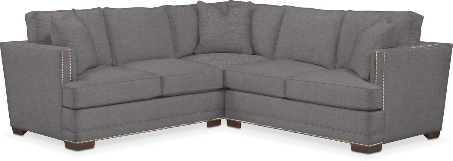 Well Known Dulce Right Sectional Sofas Twill Stone Within Kroehler Arden Cumulus Performance 2 Piece Small Sectional (View 20 of 25)