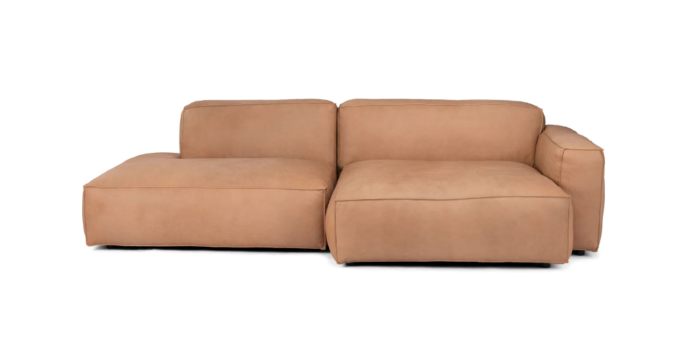 Well Known Florence Mid Century Modern Left Sectional Sofas Pertaining To Solae Canyon Tan Left Sectional (View 12 of 25)