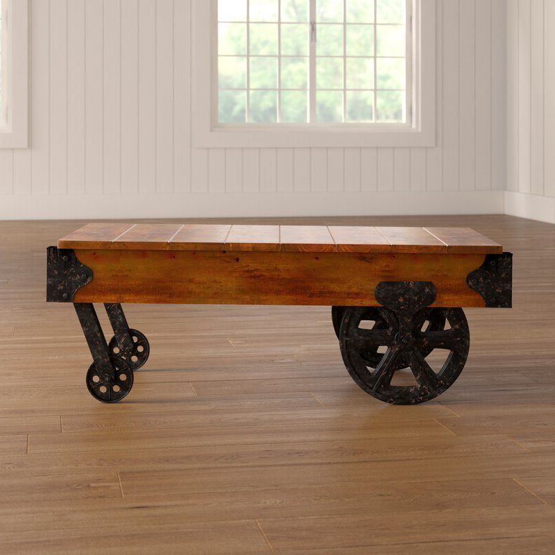 Well Known Gracie Oaks Hardrigg Cart Coffee Table & Reviews (View 2 of 15)