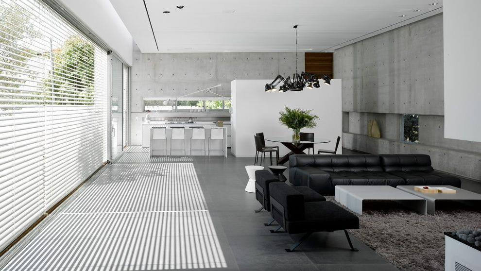 Well Known Israel Gray Leather Sectional Sofas Living Room Modern Regarding Calvin Concrete Gray Sofas (View 14 of 15)