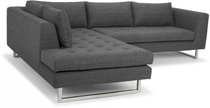 Well Known Janis Dark Grey Tweed Raf Sectional Sofa From Nuevo Throughout Camila Poly Blend Sectional Sofas Off White (View 13 of 25)