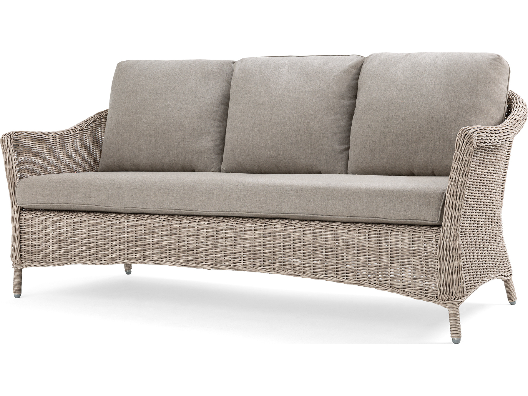 Well Known Laurel Gray Sofas In La Z Boy Quick Ship Laurel Cushion Gray Wicker Sofa In (View 4 of 15)