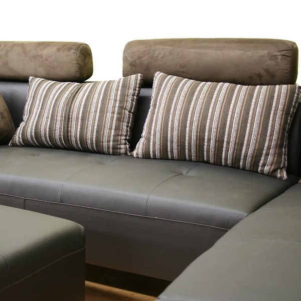 Well Known Leighton 3 Piece Black Leather Sofa Sectional Set Inside 3Pc Polyfiber Sectional Sofas (View 24 of 25)