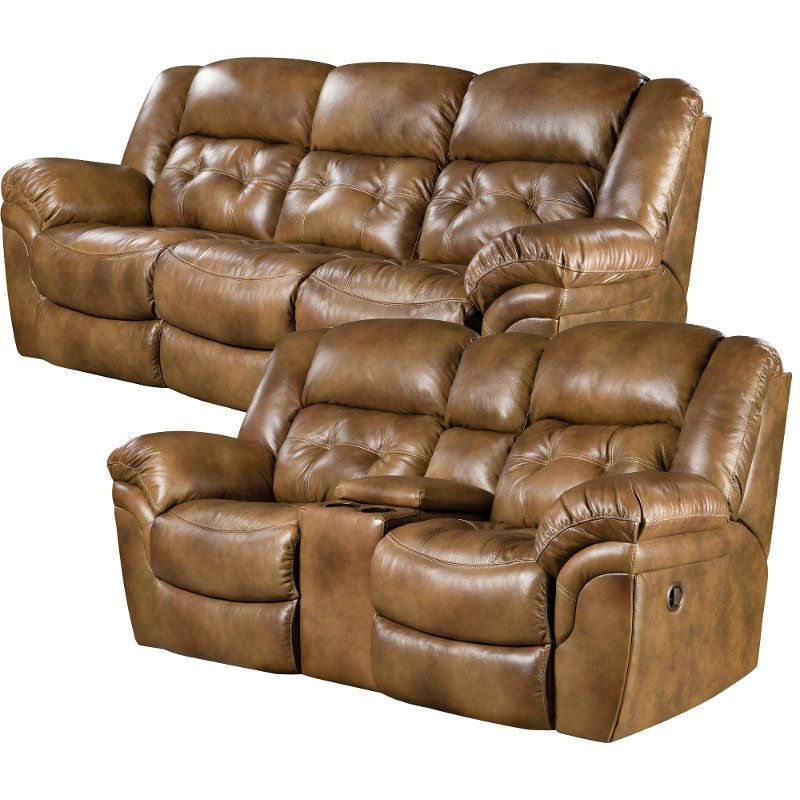 Well Known Nolan Leather Power Reclining Sofas With Saddle Brown Leather Match Power Reclining Sofa (View 5 of 15)