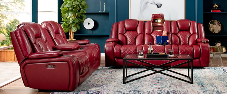 Well Known Panther Fire Leather Dual Power Reclining Sofas In Panther Leather Power Reclining Sofa Console Loveseat (View 14 of 15)