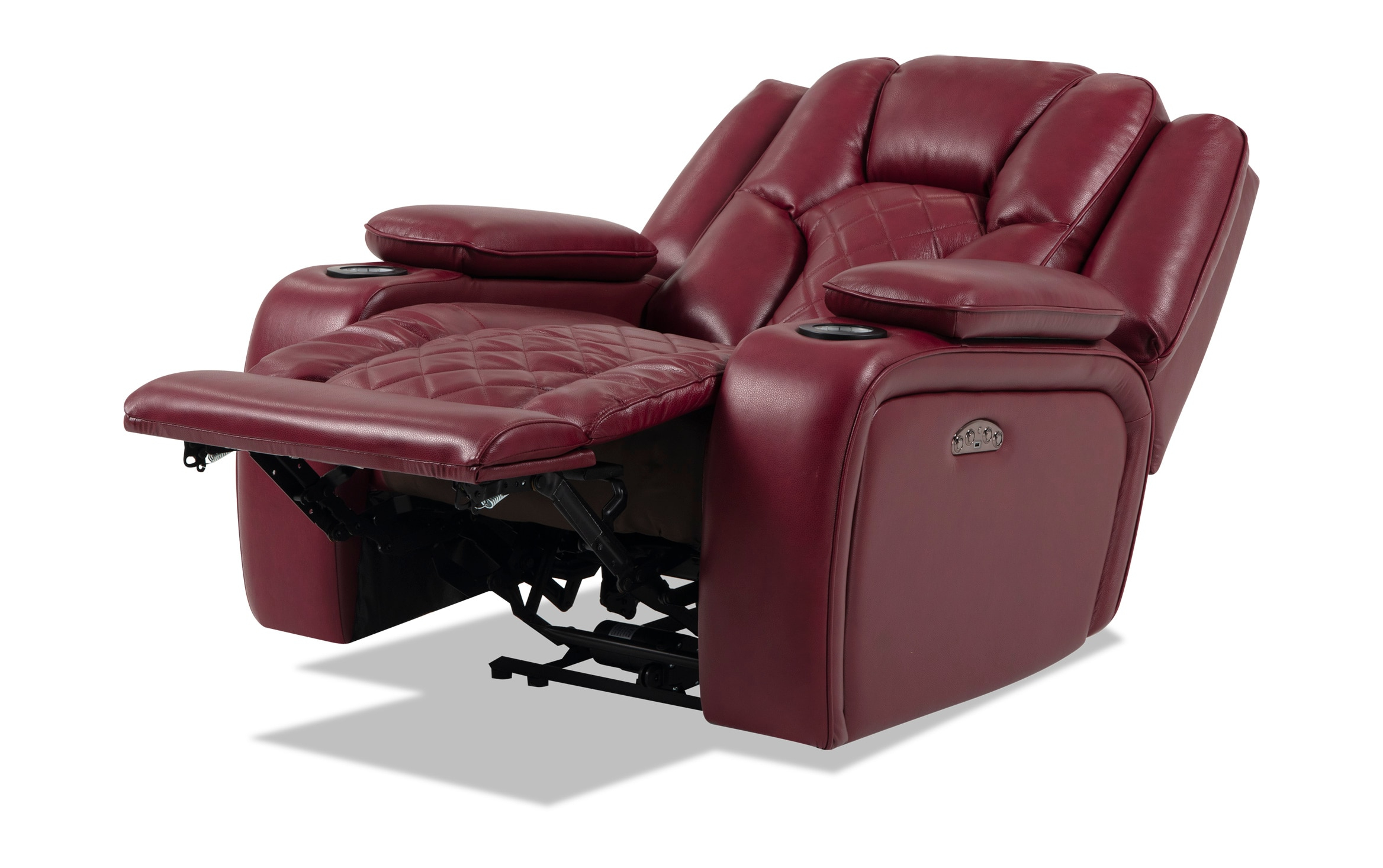 Well Known Panther Fire Leather Dual Power Reclining Sofas Within Panther Fire Leather Dual Power Reclining Sofa – Latest (View 1 of 15)