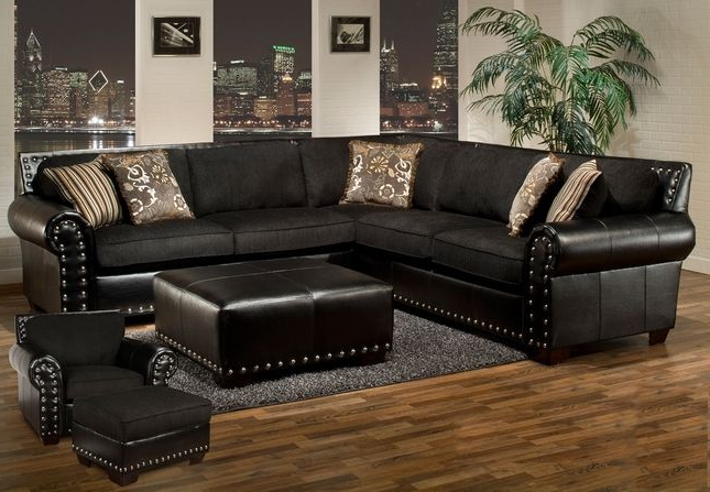 Well Known Pin On Home Regarding 2Pc Polyfiber Sectional Sofas With Nailhead Trims Gray (View 14 of 25)
