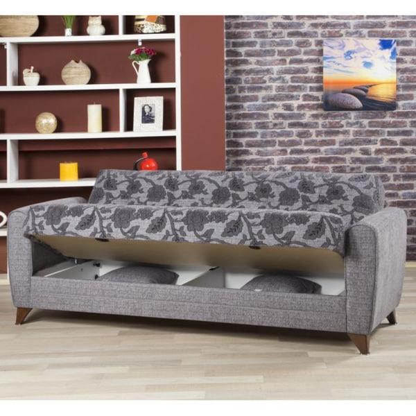 Well Known Prato Storage Sectional Futon Sofas Regarding Anatolia Convertible Futon Sofa Bed With Storage (View 18 of 25)