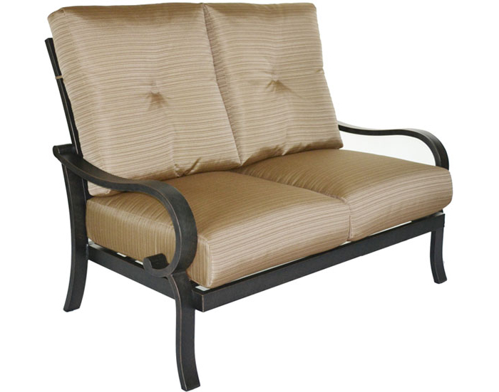 Well Known Scarlett Love Seat With Cushions – Patio Furniture Plus Regarding Scarlett Beige Sofas (View 14 of 15)