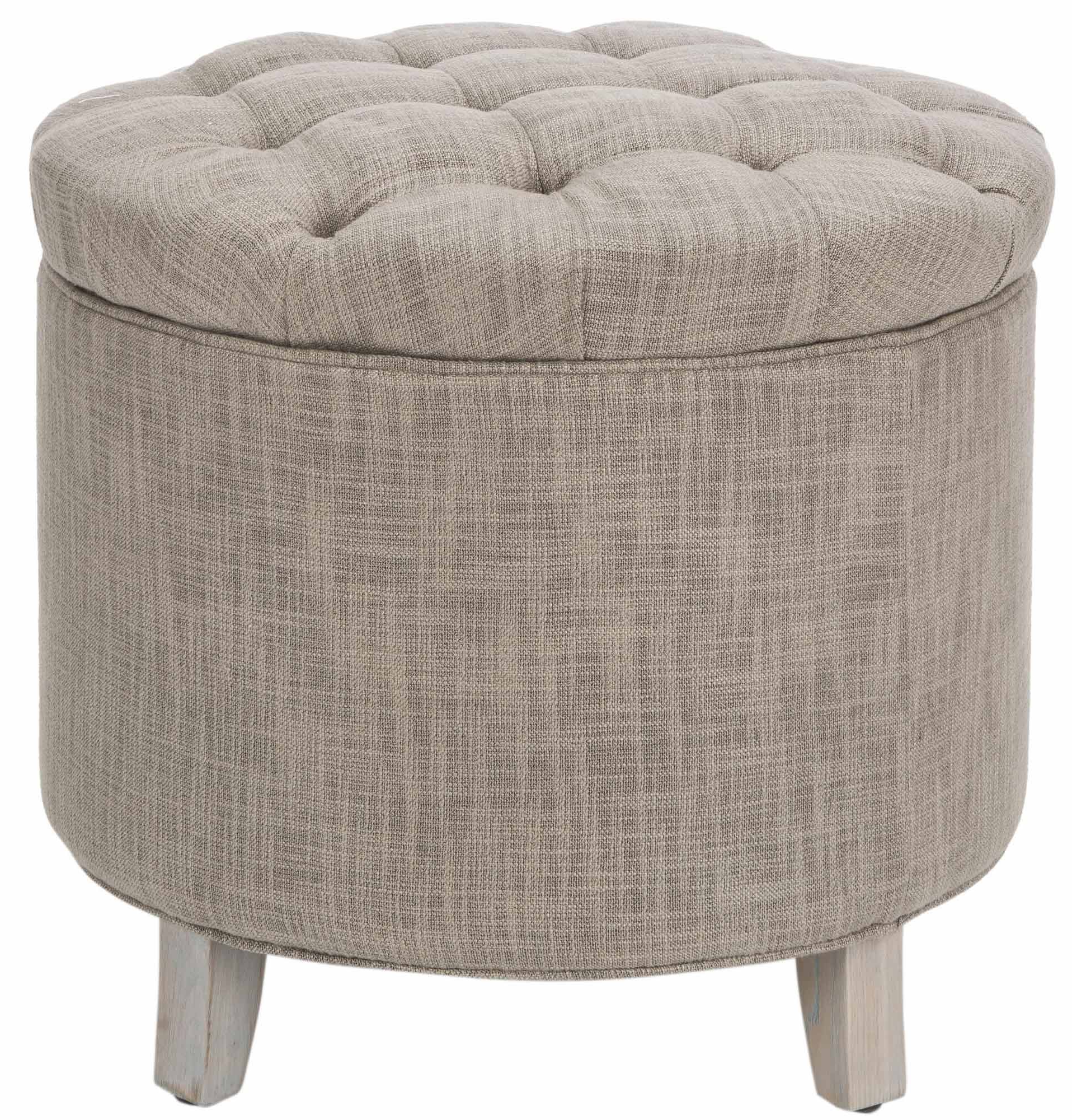 Well Known Scarlett Tufted Storage Ottoman – Gray (View 8 of 15)