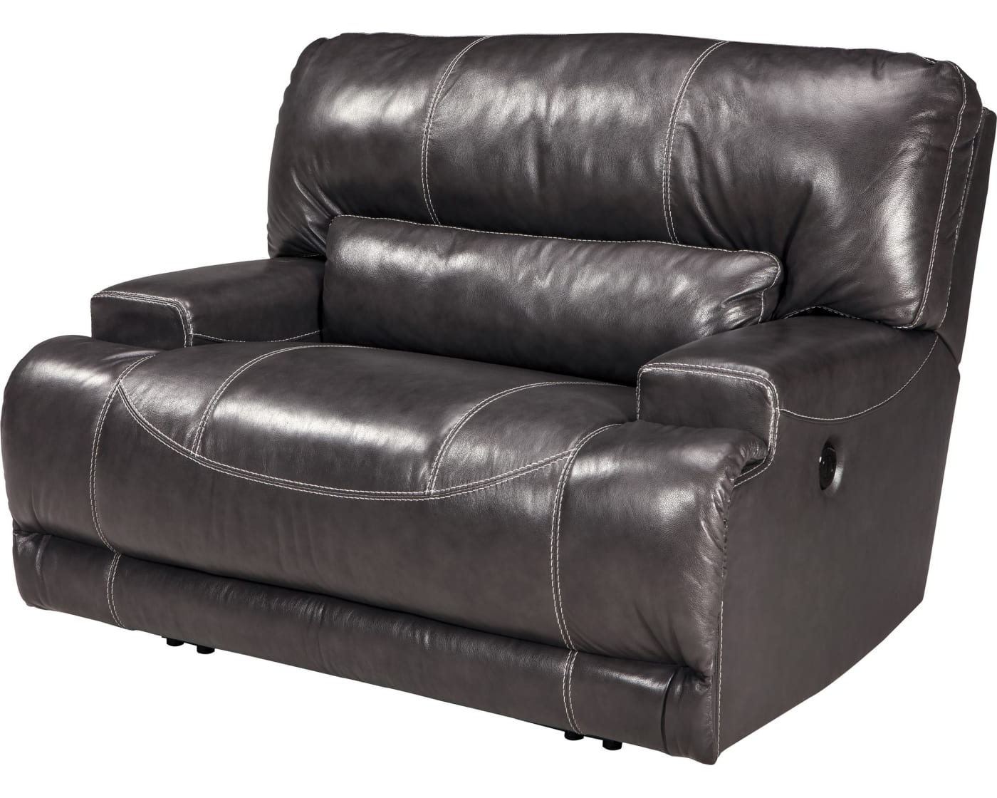 Well Known Signature Designashley Mccaskill Gray Wide Seat Power For Walker Gray Power Reclining Sofas (View 2 of 15)