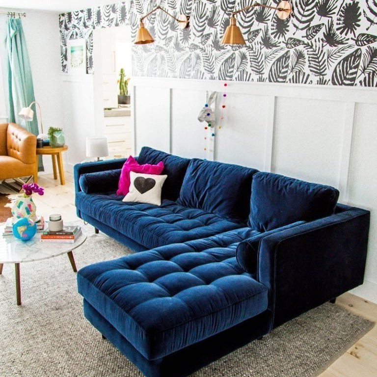 Well Known Sven Cascadia Blue Left Sectional Sofa (View 20 of 25)