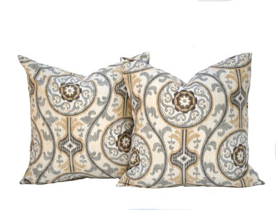 Well Known Two Medallion Pillow Covers Home Decor Decorative Pillow Throughout Magnolia Sectional Sofas With Pillows (View 17 of 25)