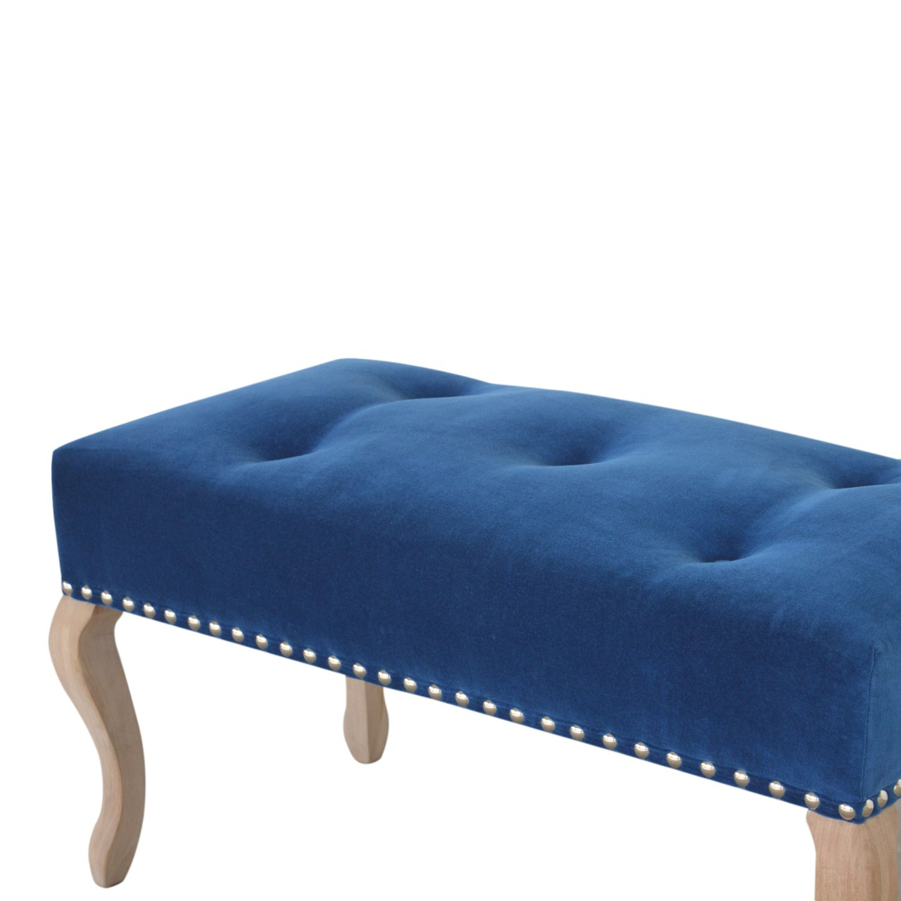 Well Known Wholesale French Style Royal Blue Velvet Bench, Dropship Inside Artisan Blue Sofas (View 10 of 15)