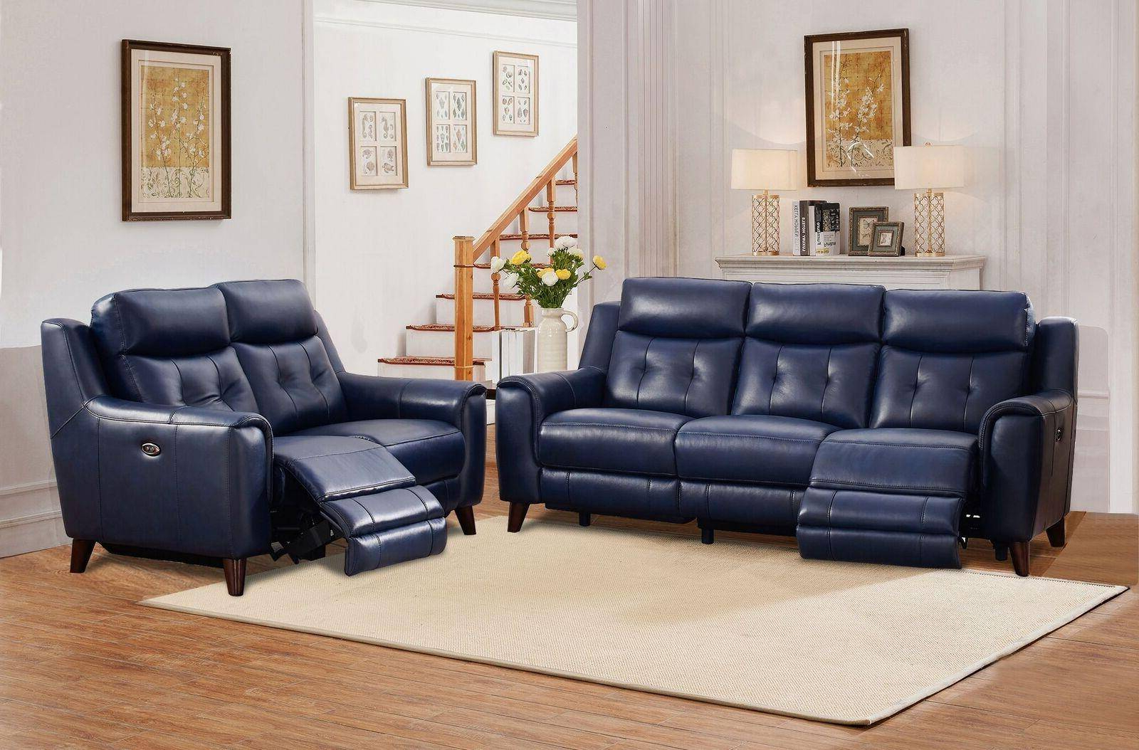 Well Liked Buy Amax Hydeline Hastings Reclining Sofa Set 3 Pcs In In Bloutop Upholstered Sectional Sofas (View 11 of 25)