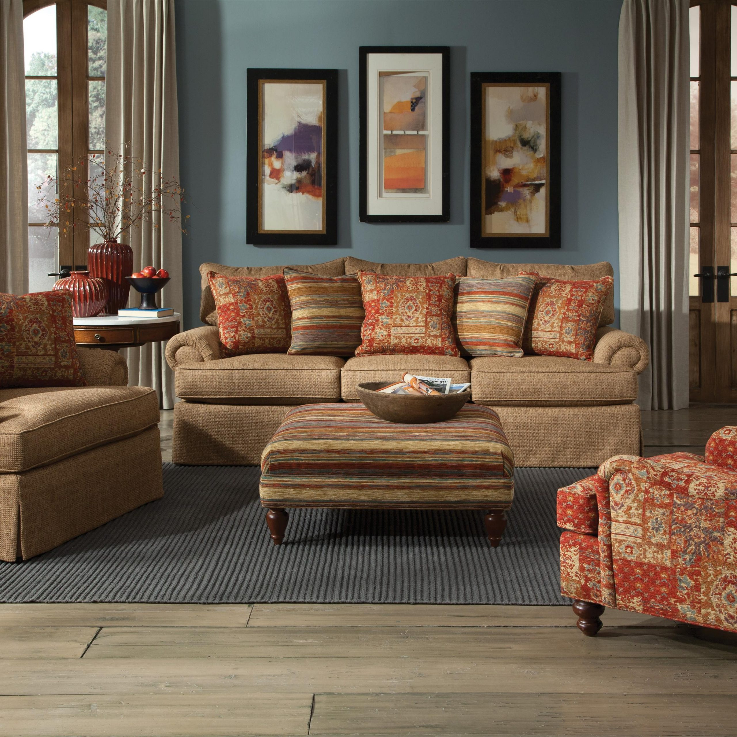 Well Liked Craftmaster 9275 Loose Pillow Back Sofa With Rolled Arms Throughout Lyvia Pillowback Sofa Sectional Sofas (View 13 of 25)