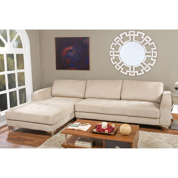 Well Liked Hannah Right Sectional Sofas Regarding Agnew Contemporary Beige Fabric Right Facing Sectional (View 12 of 25)