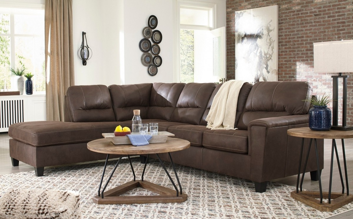 Well Liked Hannah Right Sectional Sofas With Signature Designashley Navi Chestnut 2 Piece Right (View 14 of 25)
