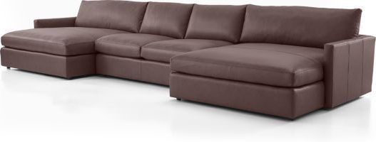Well Liked Lounge Leather 3 Piece Double Chaise Sectional Sofa Within 3Pc Miles Leather Sectional Sofas With Chaise (View 22 of 25)