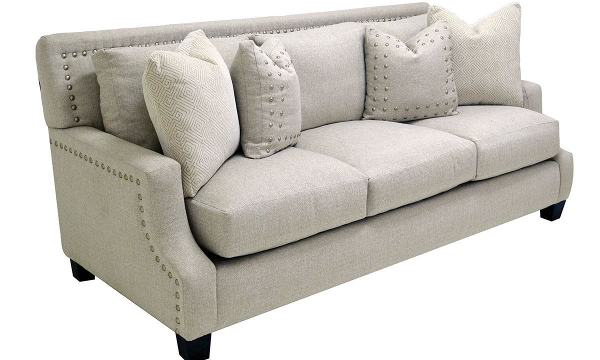Well Liked Nailhead Sofa Showing Photos Of Sectional Sofas With Throughout 2Pc Polyfiber Sectional Sofas With Nailhead Trims Gray (View 18 of 25)