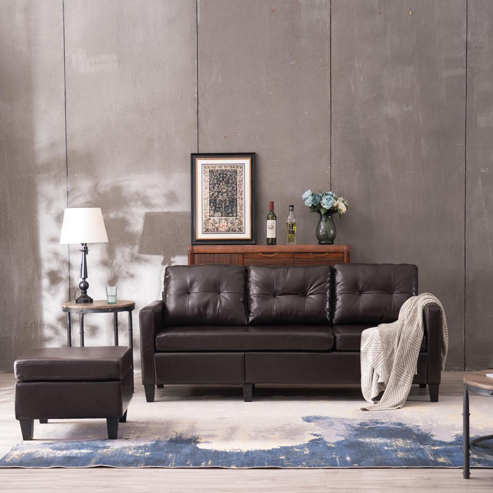 Well Liked Owego L Shaped Sectional Sofas With Regard To Zimtown Reversible Sectional Sofa Couch For Small (View 3 of 25)