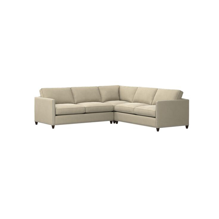 Well Liked Radcliff Nailhead Trim Sectional Sofas Gray Inside Shop Dryden Nailhead Trim Sofa (View 25 of 25)