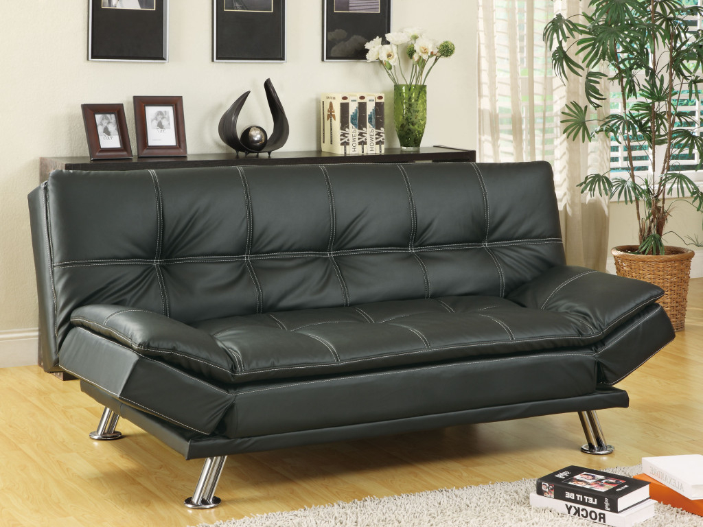 Well Liked Simple Review About Living Room Furniture: Sleeper Sofas For Easton Small Space Sectional Futon Sofas (View 7 of 25)