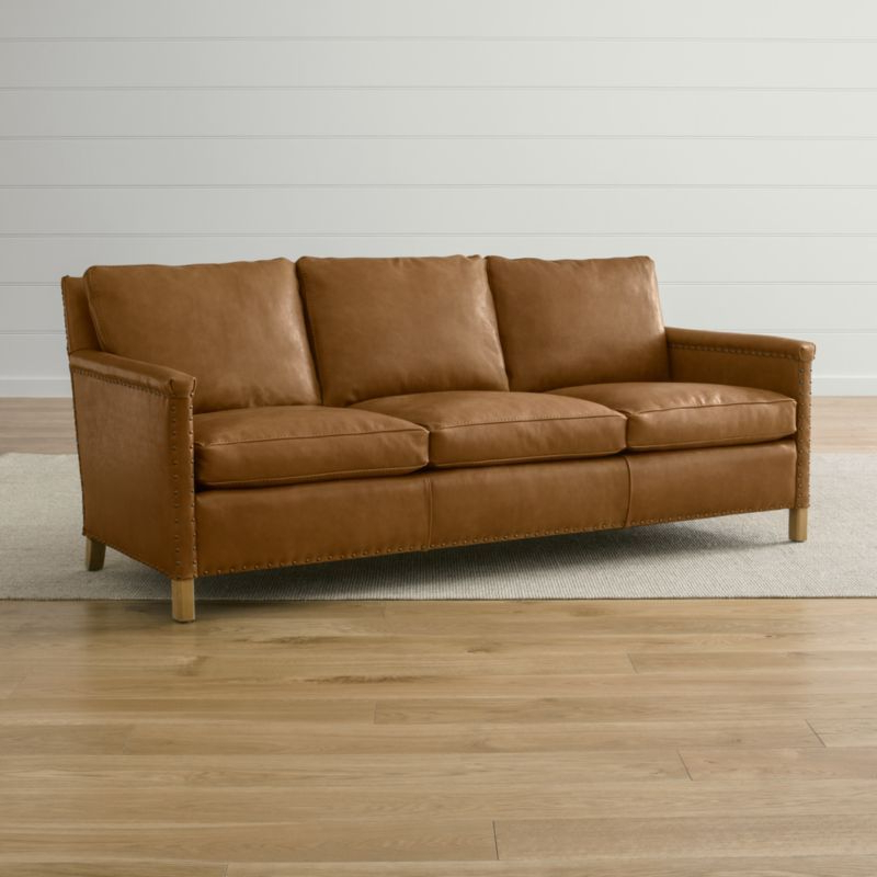 """Well Liked Trevor Leather 81"""" Sofa (View 2 of 15)"""