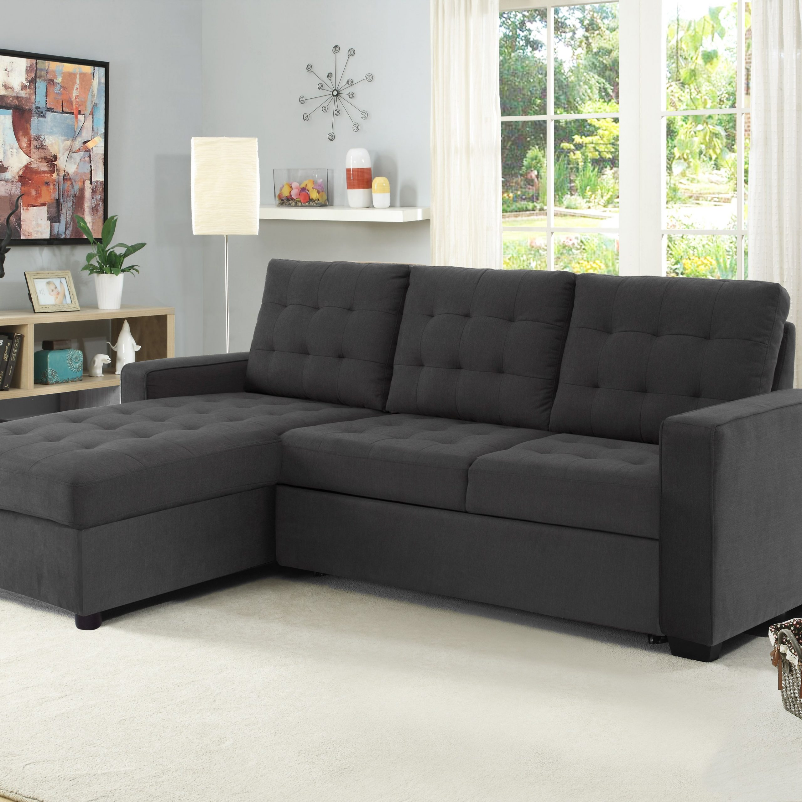 Widely Used Buy Serta Bostal Sectional Sofa Convertible: Converts Into Intended For Live It Cozy Sectional Sofa Beds With Storage (View 2 of 25)