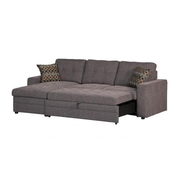 Widely Used Coaster Coaster Gus Charcoal Chenille Upholstery Small Intended For Hugo Chenille Upholstered Storage Sectional Futon Sofas (View 5 of 25)