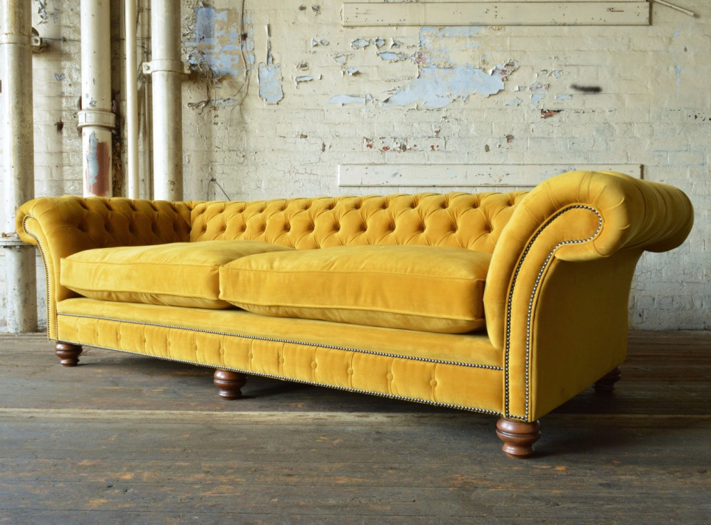 Widely Used French Seamed Sectional Sofas In Velvet Throughout Rutland Velvet Chesterfield Sofa (View 18 of 25)