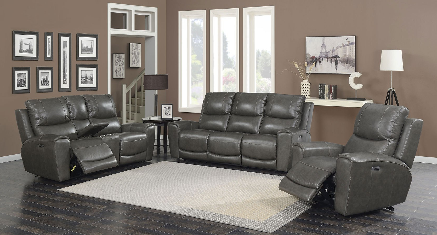 Widely Used Laurel Power Reclining Living Room Set (Grey) Steve Silver Throughout Laurel Gray Sofas (View 7 of 15)