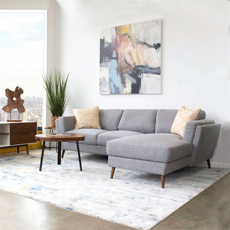 Widely Used Mid Century Modern Sadie Gray Sectional Sofa (Left Chaise In Florence Mid Century Modern Left Sectional Sofas (View 20 of 25)