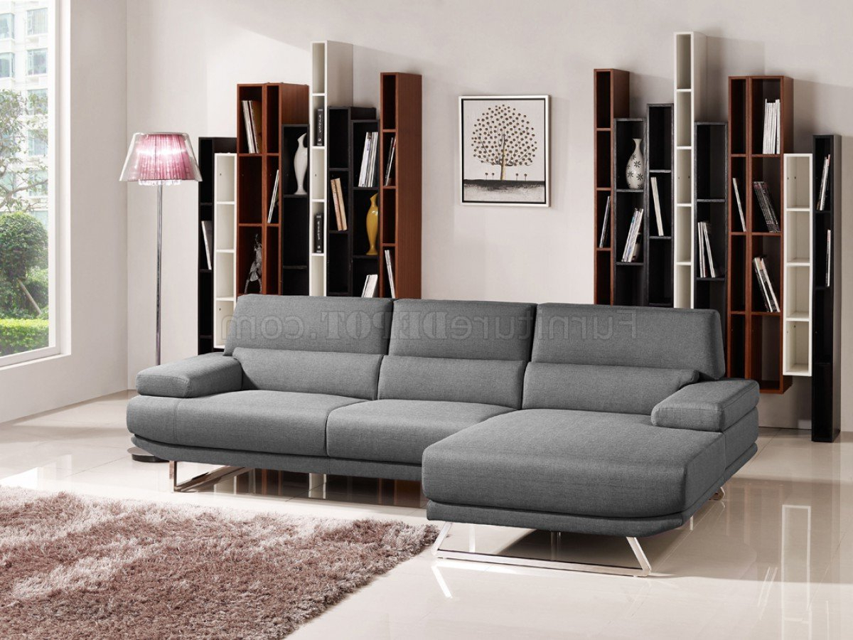 Widely Used Noa Sectional Sofas With Ottoman Gray With Trinidad Sectional Sofa 1509B In Grey Fabricvig (View 13 of 25)