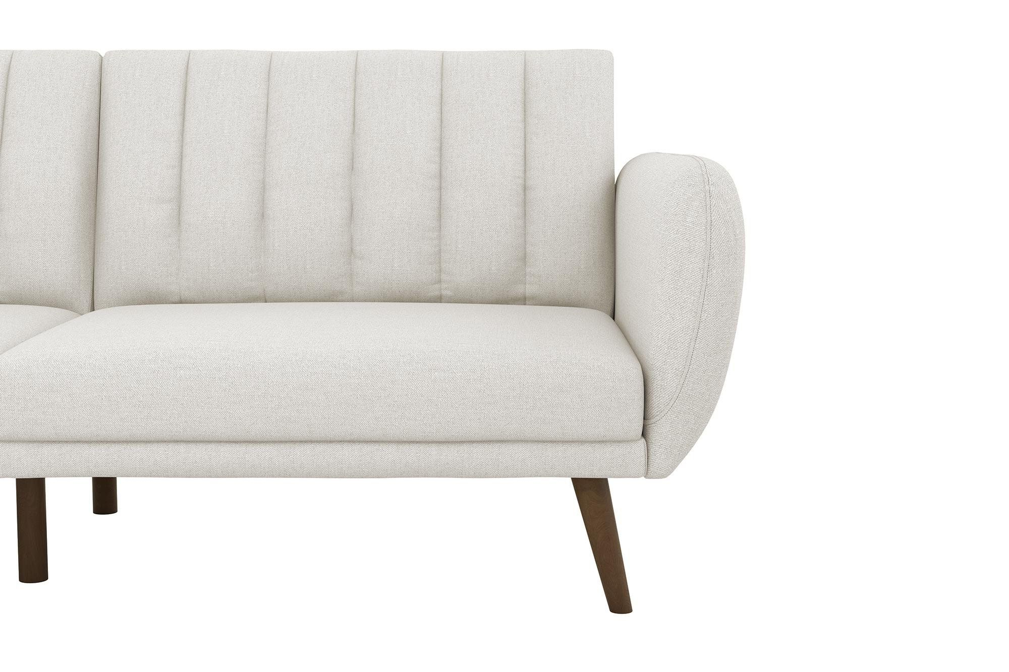 Widely Used Novogratz Brittany Sofa Futon Premium Linen Upholstery And Inside Brittany Sectional Futon Sofas (View 19 of 25)
