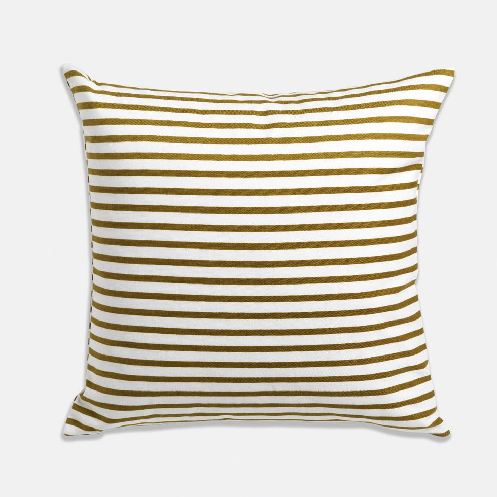 Widely Used Olive Striped Pillow $ (View 11 of 25)