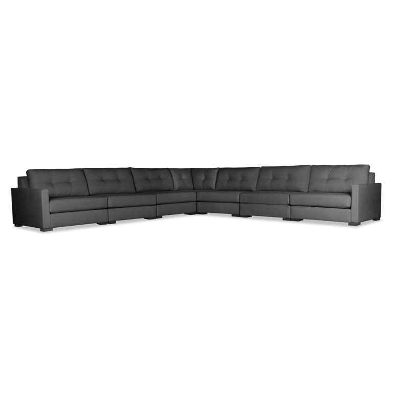 Wilton Fabric Sectional Sofas Pertaining To Fashionable Wilton Buttoned Modular Sectional Right And Left Arms L (View 11 of 25)