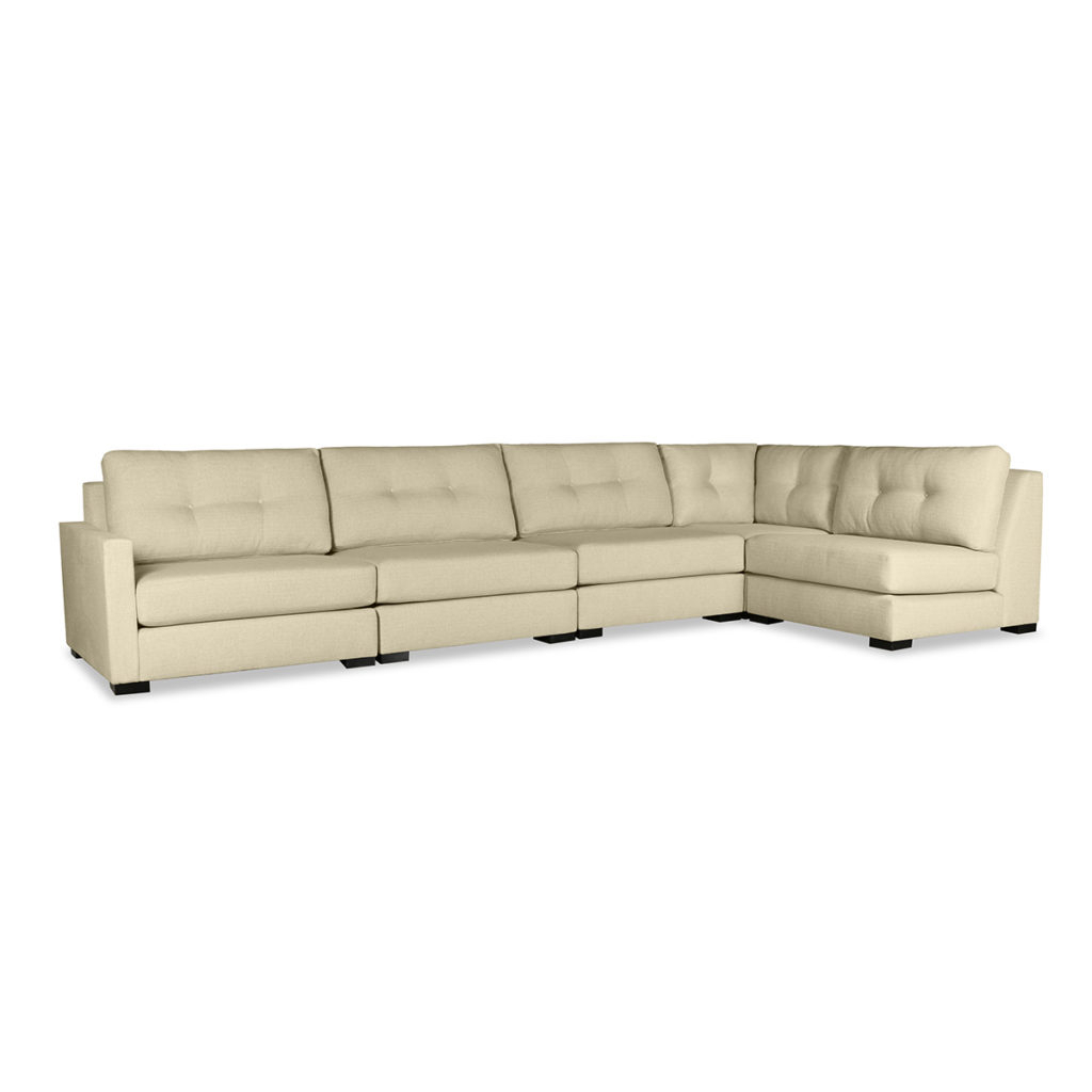 Wilton Fabric Sectional Sofas Regarding Fashionable Wilton Buttoned Modular Left L Shape Sectional (View 4 of 25)