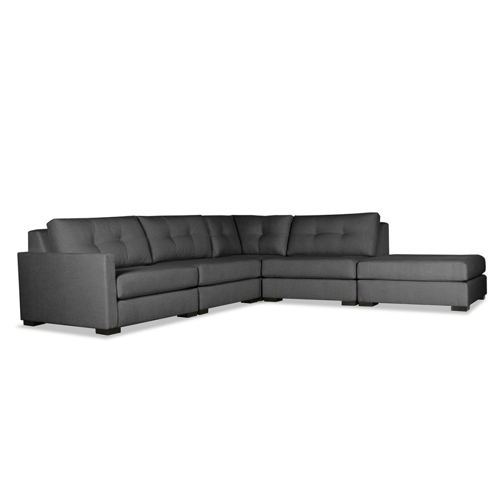 Wilton Fabric Sectional Sofas Regarding Latest Wilton Buttoned Modular Sectional Right Arm L Shape Left (View 24 of 25)
