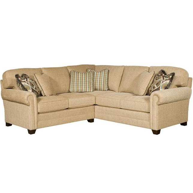 Winston Sofa Sectional Sofas With Regard To Latest King Hickory Winston Transitional Sectional With Rolled (View 14 of 25)