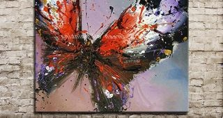 Abstract Butterfly Wall Art