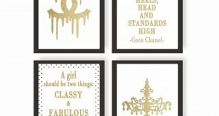 Coco Chanel Quotes Framed Wall Art