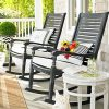 Patio Rocking Chairs And Table (Photo 2 of 15)