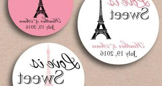 Paris Themed Stickers