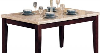 Thick White Marble Slab Dining Tables With Weathered Grey Finish